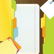 Link toColored paper sheets background vector 02