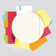 Link toColored paper sheets background vector 03