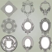 Link toRetro patterns with frameworks design elements vector 02