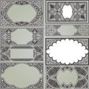 Link toRetro patterns with frameworks design elements vector 12