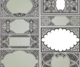 Retro Patterns with frameworks design elements vector 12
