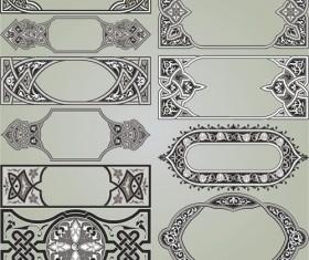 Retro Patterns with frameworks design elements vector 13