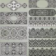 Link toRetro patterns with frameworks design elements vector 14