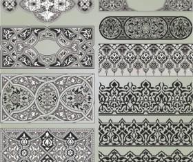 Retro Patterns with frameworks design elements vector 14