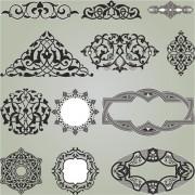 Link toRetro patterns with frameworks design elements vector 15