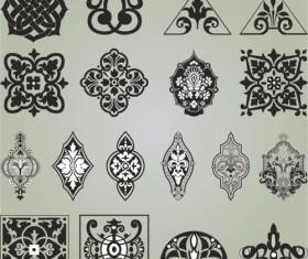 Retro Patterns with frameworks design elements vector 07