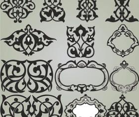 Retro Patterns with frameworks design elements vector 08