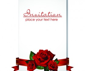 Postcard with Rose design vector
