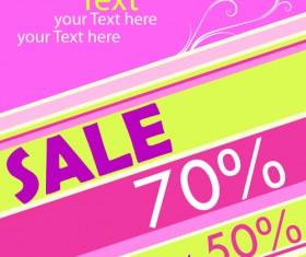 Set of Poster discount design elements vector graphics 01