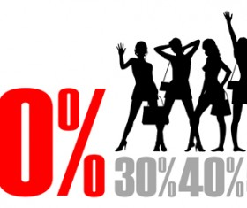 Set of Poster discount design elements vector graphics 02