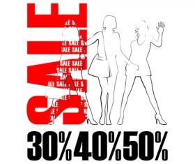 Set of Poster discount design elements vector graphics 03