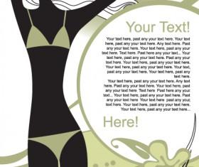 Poster Fashion girl design elements vector 04