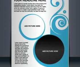 Vector template Presentation of flyer design 01