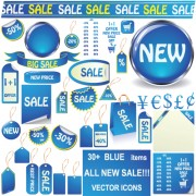 Link toSet of vivid price tags and stickers vector material 02
