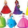 Different Princess design elements vector graphic 01