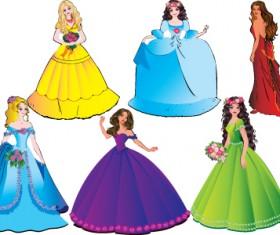 Different Princess design elements vector graphic 04