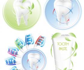 Protect teeth design elements vector graphics 05