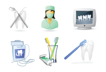 Protect teeth design elements vector graphics 06