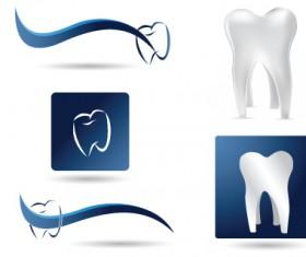 Protect teeth design elements vector graphics 07