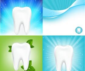 Protect teeth design elements vector graphics 09