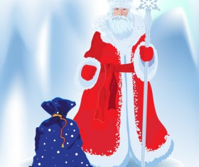 Set of Russian style Christmas elements vector graphic 02