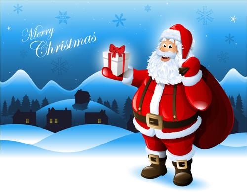 Elements of Santa Claus design vector graphics 01