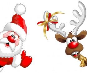 Elements of Santa Claus design vector graphics 04