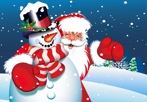Amusing Christmas Santa Claus elements vector set 01 free download