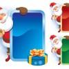 Amusing Christmas Santa Claus elements vector set 02