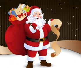 Amusing Christmas Santa Claus elements vector set 03