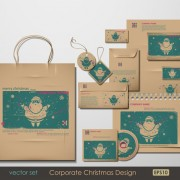Link toSet of corporate christmas design kit vector 02