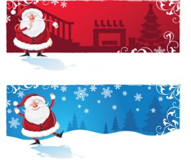 Various cute Santas elements vector material 01
