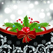 Link toShiny christmas backgrounds with bow design vector 05