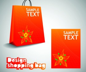 Vector set of Creative Shopping bags design elements 01