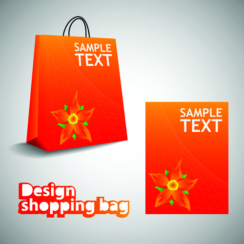 Vector set of Creative Shopping bags design elements 01