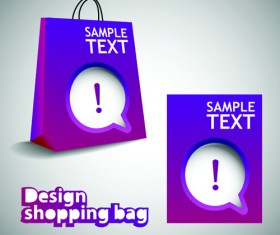 Vector set of Creative Shopping bags design elements 02