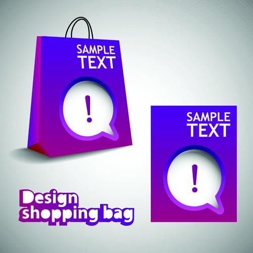 Vector set of Creative Shopping bags design elements 02