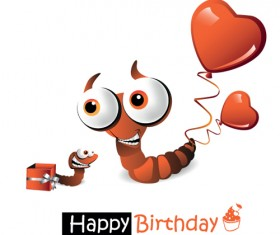 Set of Smile postcard Happy Birthday design vector 04