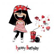 Link toSet of smile postcard happy birthday design vector 05