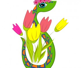 Snake 2013 Creative design vector material 07