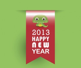 Year of Snake and Christmas design elements vector 01