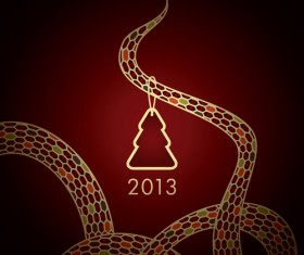Year of Snake and Christmas design elements vector 04