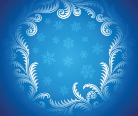 Winter Snowflake backgrounds art design vector 02