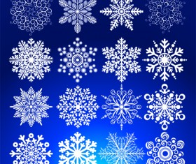 Different Snowflakes mix design vector material 02