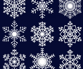 Different Snowflakes mix design vector material 04