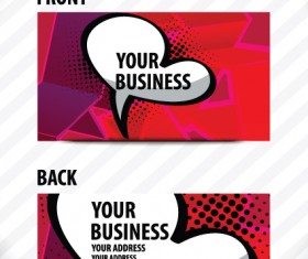 Creative Speech bubble business card vector graphic 01