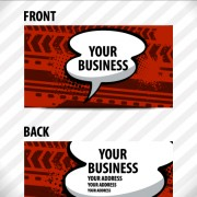 Link toCreative speech bubble business card vector graphic 02