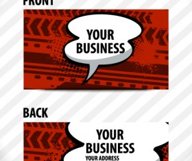 Creative Speech bubble business card vector graphic 02