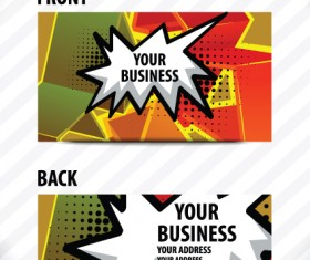 Creative Speech bubble business card vector graphic 03