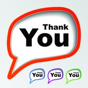 Link toSet of thanks you sticker design vector 02